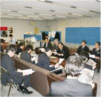 群馬県庁記者クラブにて正副会長による記者会見