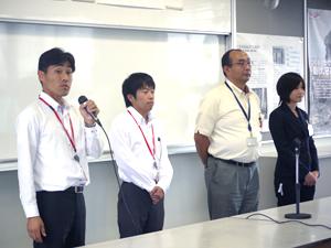右から(株)千葉測量 TOPCON、福井コンピューター(株)