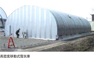 高密度移動式雪氷庫