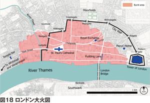 図18 ロンドン大火図