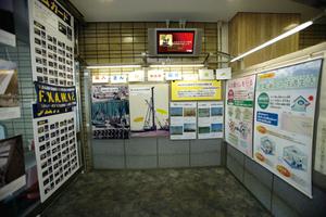 専門工事業の仕事を紹介するパネル展示