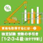 特集  建設業界が求める資格  建設業経理検定試験|資格を取得するには...① 検定試験 受験の手引き「1・2・3・4級(自分で学習)」