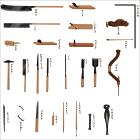 絵で見る江戸のくらし 17.百八十年前の大工道具